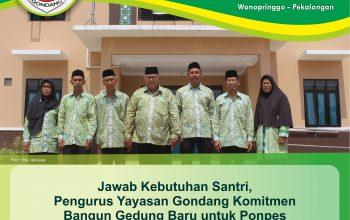 Jawab Kebutuhan Santri, Pengurus Yayasan Gondang Komitmen Bangun Gedung Baru untuk Ponpes