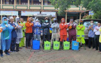 Gandeng Satgas Covid-19 PCNU Kabupaten Pekalongan, Yayasan Gondang Sterilkan Unit Pendidikan