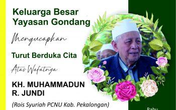 Innalillahi Wa Innailaihi Rojiun, Rois Syuriyah PCNU Kabupaten Pekalongan KH Muhammadun R Jundi Wafat