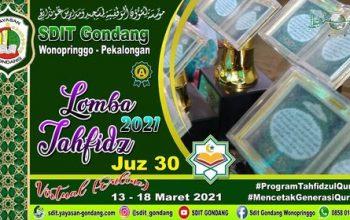 Lomba Tahfidz Qur'an SDIT Gondang Dilaksanakan Secara Virtual